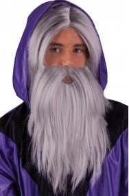 Parrucca e barba mago Gandalf