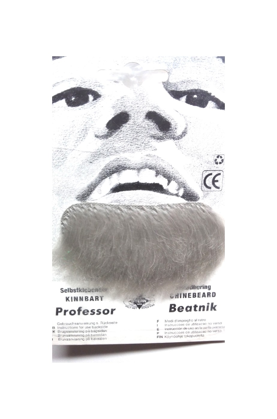 Trucco: Barba finta pizzetto grigia Professor
