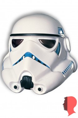 Maschera adulto da Stormtrooper Star Wars Originale In PVC