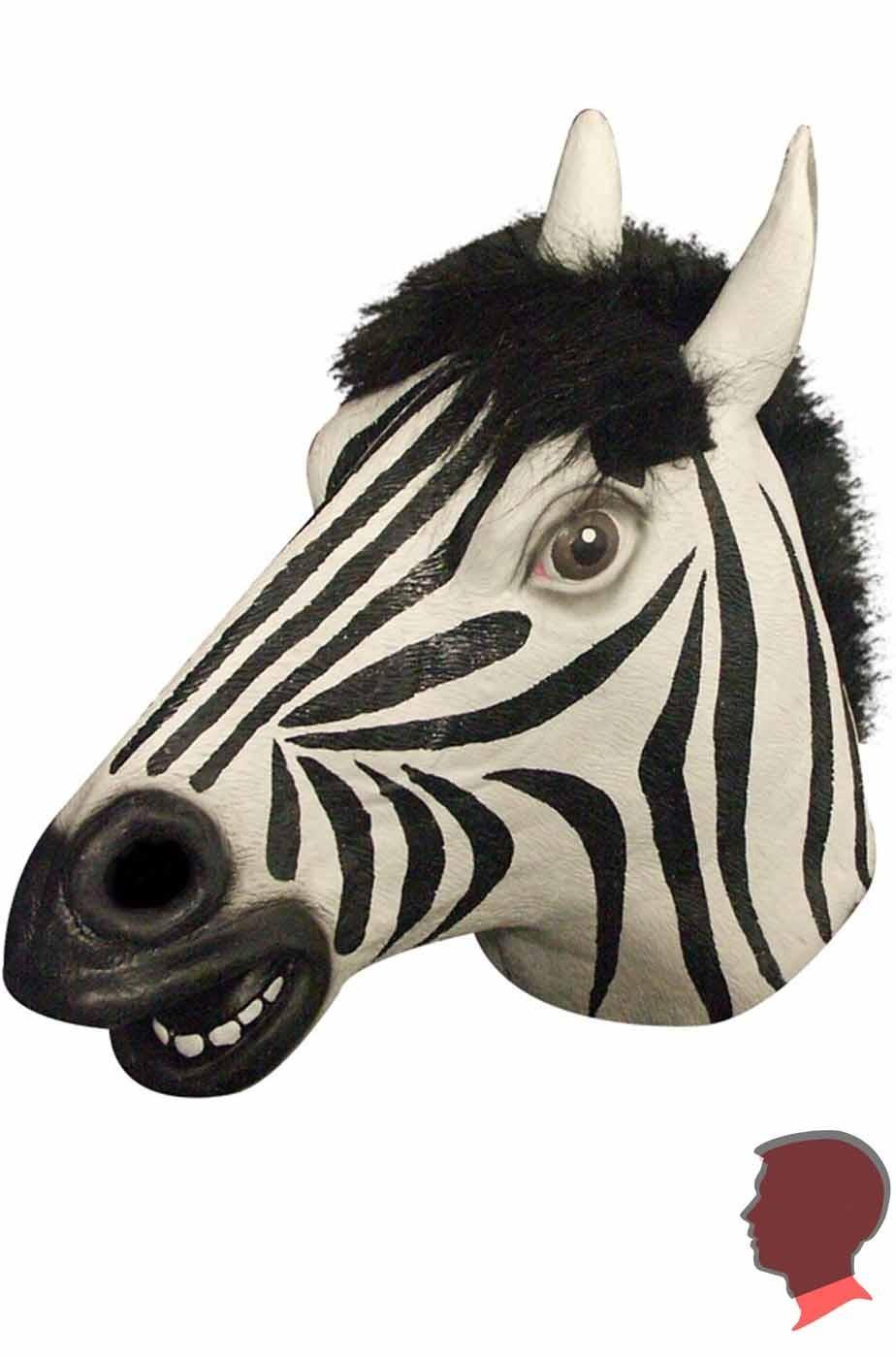 Maschera zebra testa intera in lattice