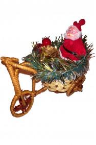Decorazione Natalizia Babbo Natale su cestino