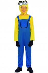 Costume bambino mini ometto giallo e blu
