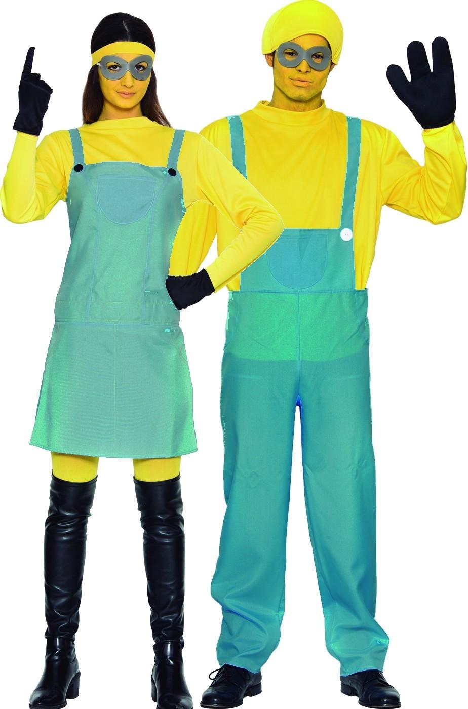 a24bda245d75e3 Coppia di costumi di Carnevale adulti Ometti gialli tipo Minions