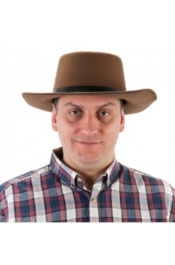 Cappello Professor Jones marrone in feltro adulto