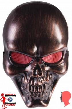 Maschera teschio nero bronzo
