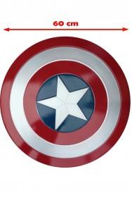 Scudo Capitan America Adulto in plastica dimensione reale 60cm diam (peso 30 gr circa). civil war