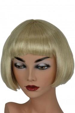 Parrucca donna bionda corta anni 20 a caschetto