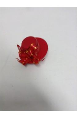 Mini cappello anni 20 rosso