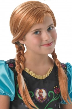Parrucca Anna sorella Elsa Regina delle Nevi originale Disney