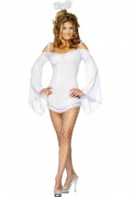 Costume donna sexy da Angelo bianco