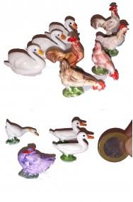 Gruppo di figurine Presepe 12 animali dell'aia cm 2