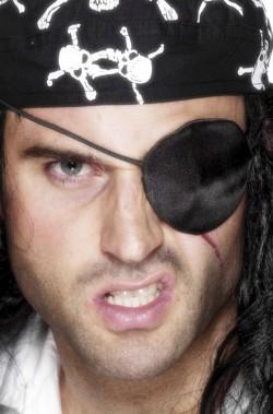 Occhiello Pirata in tessuto per coprire l'occhio mancante