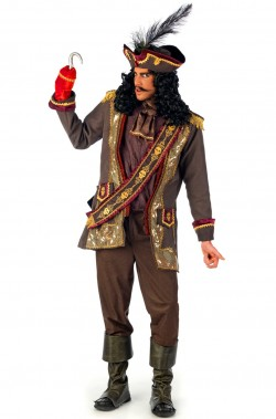 Costume Pirata Capitan Uncino teatrale extra lusso rifinitissimo