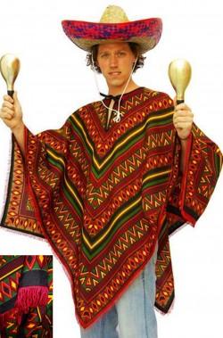 Poncho messicano taglia L