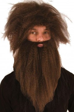 Set Parrucca e barba barbaro o Gesu'