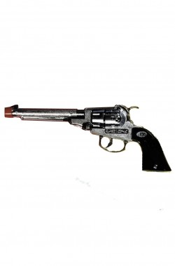 Pistola giocattolo da cowboy revolver in metallo ADULTO cm20