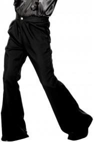 Pantaloni anni 70 a zampa di elefante neri