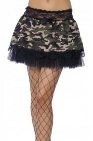 Sottogonna color camouflage militare