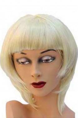 Parrucca donna bionda corta a caschetto