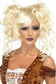 Parrucca donna bionda corta Steampunk