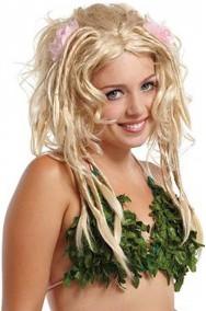 Parrucca donna bionda lunga elfa dei boschi o celtica o rasta