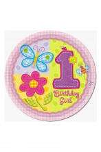Primo Compleanno bambina Party Piatti carta 8pzx27cm