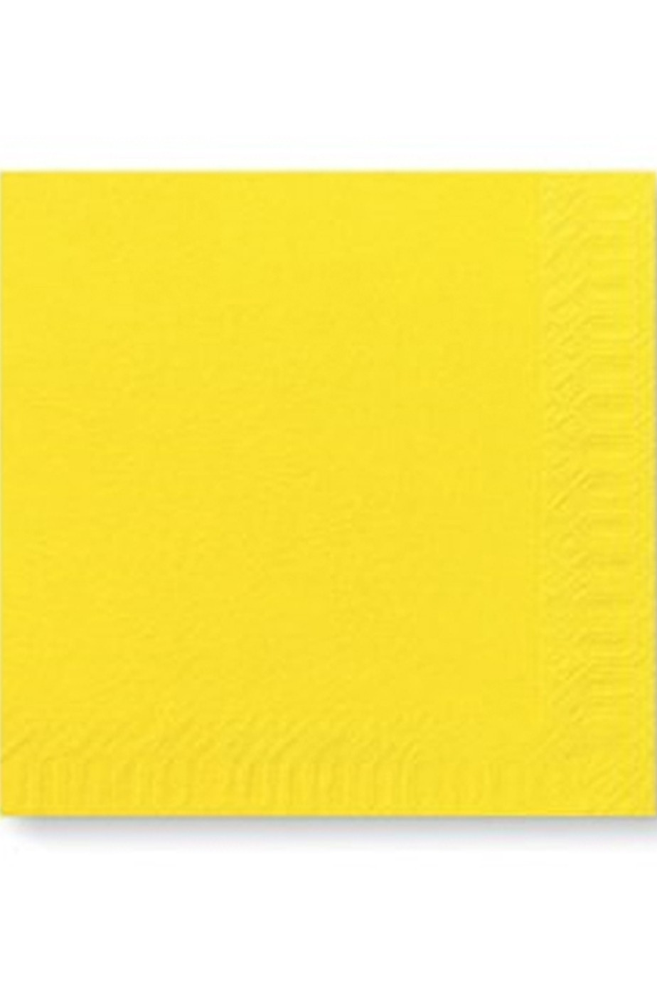 Tovaglioli in carta gialli 33x33cm