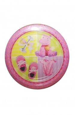 Party rosa confezione da 8 piatti di carta 23cm
