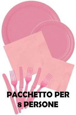 Party rosa pacchetto offerta per 8 persone