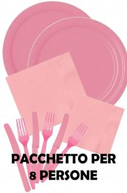 Party rosa pacchetto offerta per 8 persone solo piatti grandi