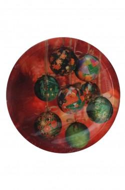 Natale Party Rosso Palle di Natale Piatti in carta 10pzx23cm