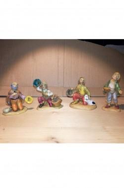Statuine del presepe 7cm gruppo mendicante, fagiolaio, pastore, contadino