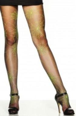 calze adulto con ragnatela verde taglia unica …