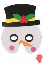 maschera in soffice gomma sottile pupazzo di neve
