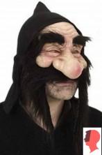 Maschera da nano in gomma con cappuccio e baffi