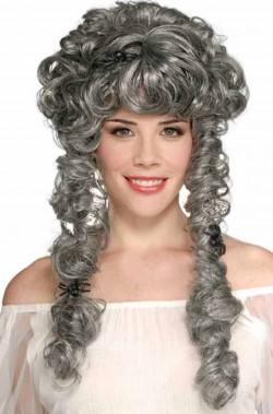 Parrucca donna grigia lunga 700