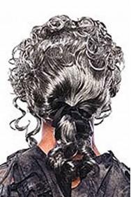 Parrucca unisex grigia lunga 700