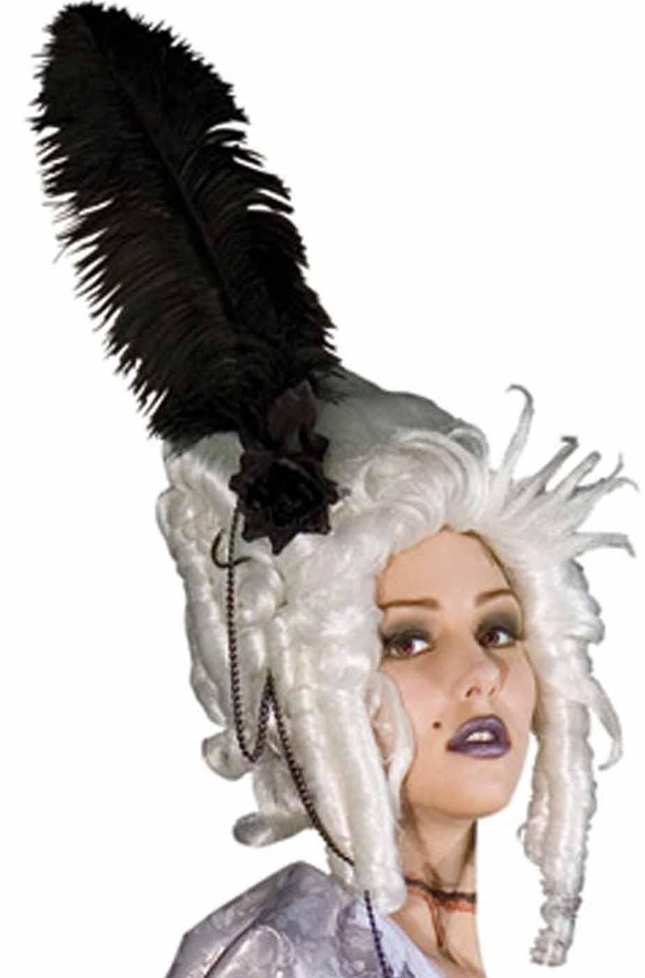 Parrucca donna corta bianca 700