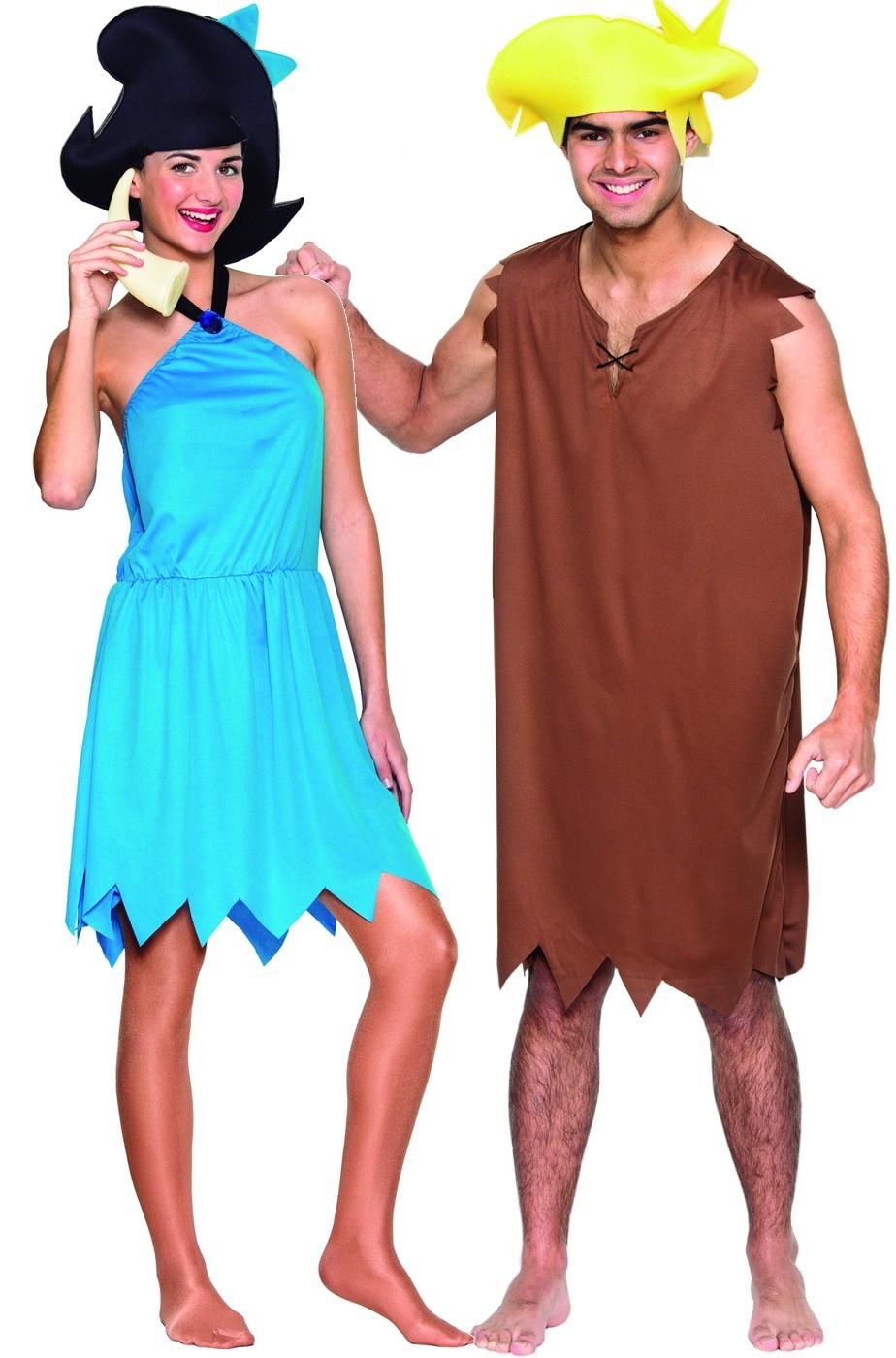 Coppia di Costumi Barney e Betty dagli antenati