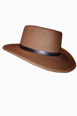 Cappello Cowboy Professor Jones marrone in feltro adulto