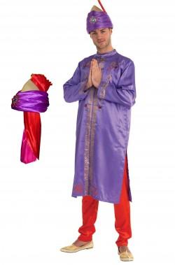 Costume Attore di Bollywood adulto mandarino cinese principe asiatico