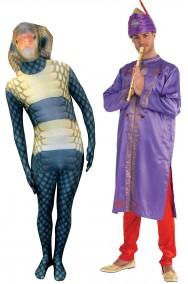 Coppia di Costumi incantatore di serpenti e cobra