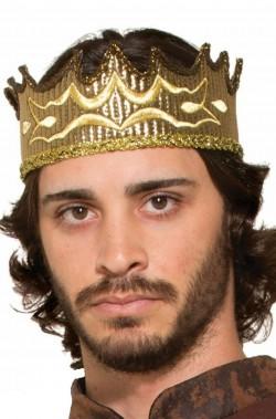 Corona re medievale color oro