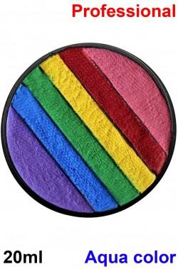 Trucco teatrale palette acqua color rainbow 20ml