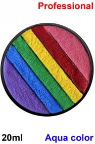 Trucco Teatrale cialda acqua color 20ml rainbow color palette