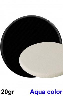 Trucco teatrale in cialda aqua color con spugnetta nero