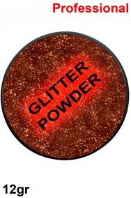 Trucco polvere brillantini glitter rosso mattone 12gr