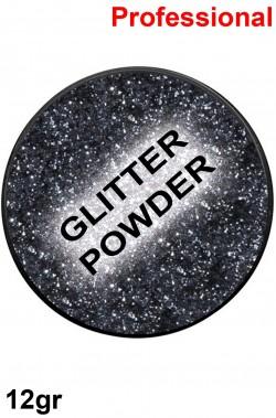 Trucco polvere brillantini glitter nero 12gr