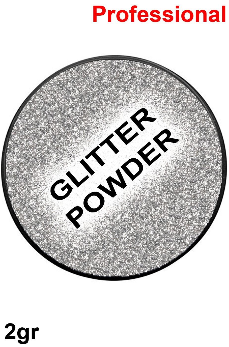 Trucco cialda effetto glitter argento 2gr