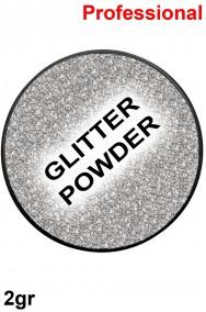 Trucco polvere brillantini glitter argento 2gr